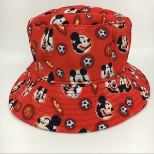 Mickey Mouse toddler bucket hat red sports boy